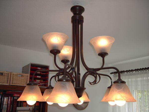 Wohnzimmerlampe Schmiedeeisen 9flammig
