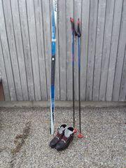 FISCHER Langlauf-Skier inkl Schuhe und Stöcke