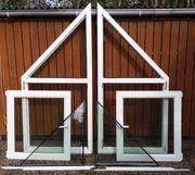 2 Fensterelemente mit Isolierverglasung Kömmerling