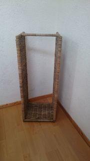 Rattan-Regal für Holz