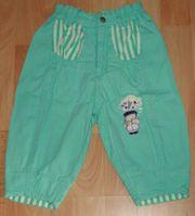 Grüne Baumwoll-Hose - Größe 68 - frische Farben