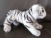 Plüschtier Tiger weiß 28cm