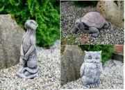 Steinfigur Eule Erdmännchen Schildkröte Betonfigur