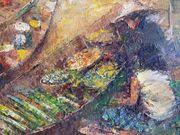 Großes Original-Gemälde aus Bangkok Thailand
