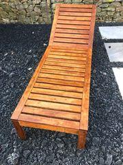 Holz Gartenliege mit Rollen und