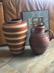 2 x Vase Bodenvasen Klinkervase