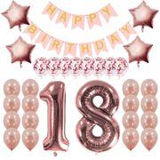 NEU Geburtstagsset Rosegold Luftballons Happy
