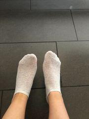 Getragene Alltags Socken