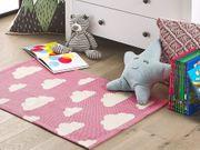 Kinderteppich Baumwolle rosa 60 x