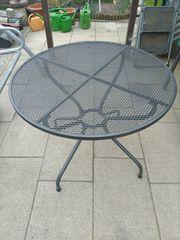 Gartentisch rund metall MWH