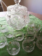 Bleikristallbowle handgeschliffen schwer