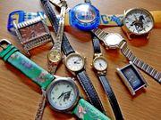 Armbanduhren-Konvolut 9 Stck gemischt wie beschrieben