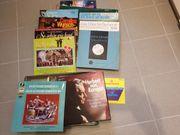 Verschiedene alte Schallplatten