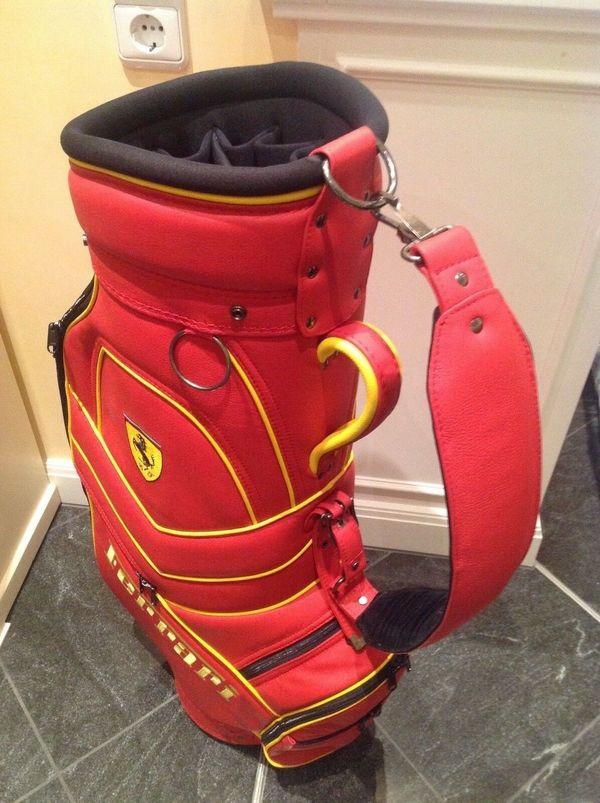 Ferrari Leder Golf Bag Tasche Golfbag Koffer unbenutzt
