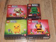 4 Lego Brick Heads 40349
