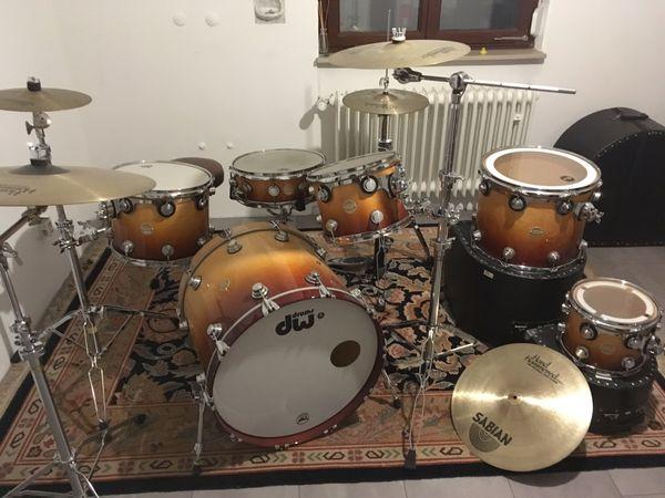 Wunderschönes DW Schlagzeug 6-Piece Sabian