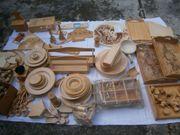 Spanschachteln Holzteller div Holzteile zum