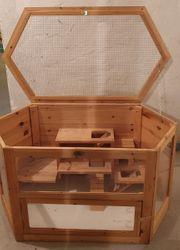 Großer Hamster- Kleintierkäfig aus Holz