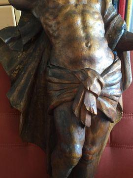 Bild 4 - Barocke Holzskulptur - Segnender Christus triumphiert - Ahrensfelde