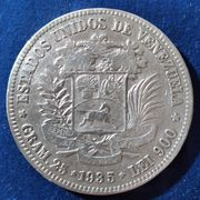5 Bolivares VENEZUELA 1935 900er