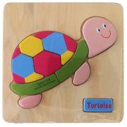 NEU Holzpuzzle für Kinder Schildkröte