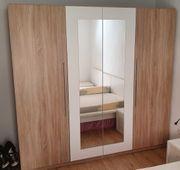 Kleiderschrank - Eiche Sonoma - mit Spiegel