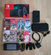 Nintendo Switch Konsole mit viel