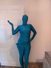 blauer Morphsuit Ganzkörperanzug