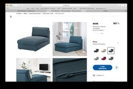 IKEA-Möbel - Recamiere von Ikea mit passender