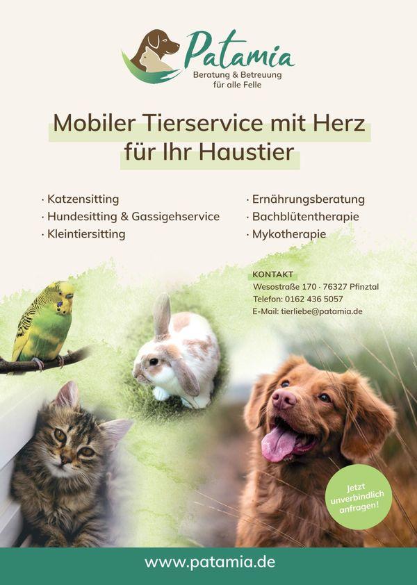 Mobile Tierbetreuung Gassigehservice Hundebetreuung Katzenbetreuung