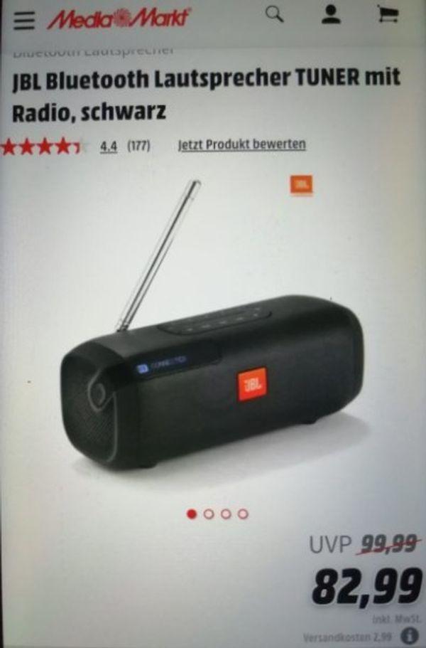 JBL Box tuner mit Bluetooth