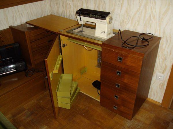 SINGER-Nähmaschine inkl Einbau-Schrank
