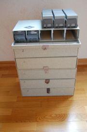 Stapelboxen und Diamagazine 60er 70er