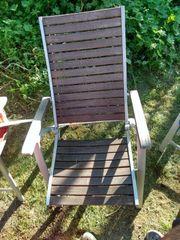 Gartenstühle 6x mit Liegefunktion und