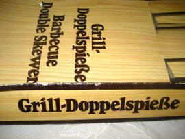 Küchenherde, Grill, Mikrowelle - 3 Stück Grill Doppelspieße mit
