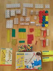 Matador 263 Teile Holzspielzeug