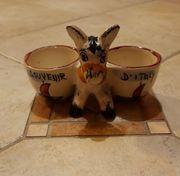 Vintage Keramik Esel Figur Souvenir