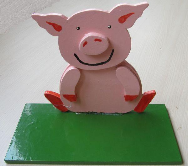 Tischdeko Schweinchen