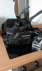 Olympus Videokamera mit Tasche und