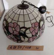 2 Tiffany Stile Decken Lampe