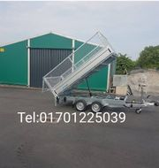 Kipper Anhänger transport Rückwärtskipper Mieten