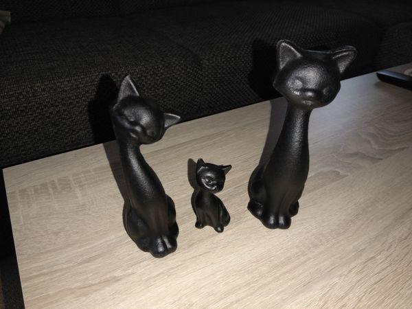 Dekoration schwarze Katzen Cats Familie