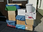 13 Kartons 1 Tonne voll