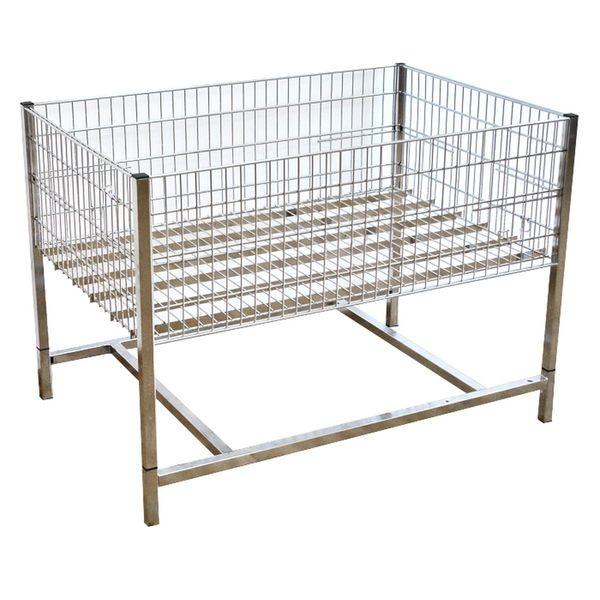 Wühltisch verchromt 120x80 cm gebraucht