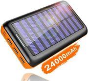 Solar Powerbank 24000mAh mit 3
