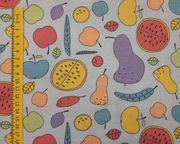 Stoff Stoffpaket Früchte pastell