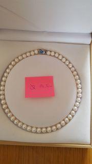 Reduziert Perlenkette Süßwasser-Perlen