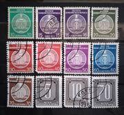 DDR 1954 57 Dienstmarken Briefmarken