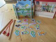Angelspiel Holzangelspiel Holz Spiel Tchibo