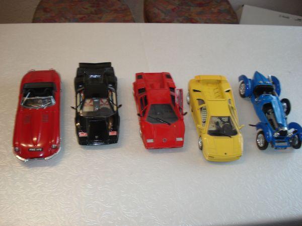 5 Modellautos 1 18 Bastler